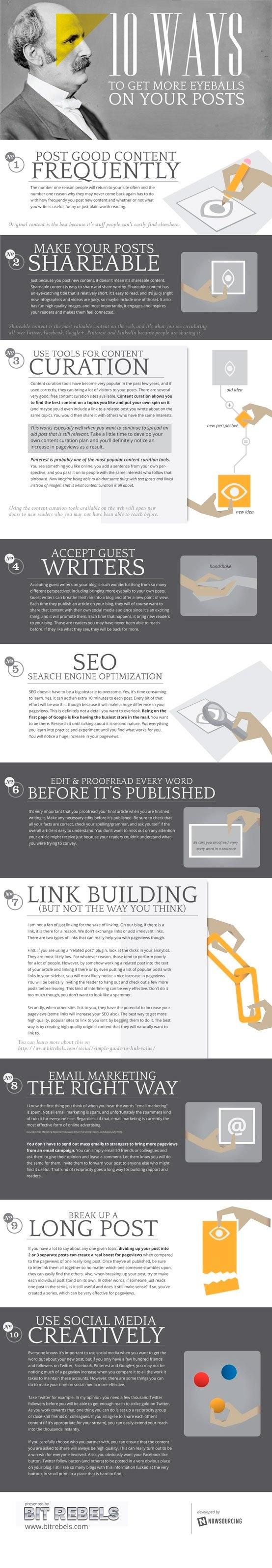Diez consejos para conseguir atraer a más usuarios a tu blog
