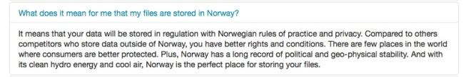 JottaCloud y Noruega