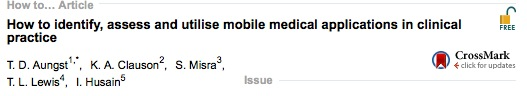 How to identify, assess and utilise mobile medical applications in clinical practice