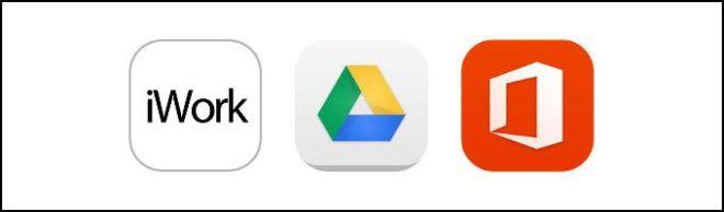 iwork, googledrive, microsofoffice