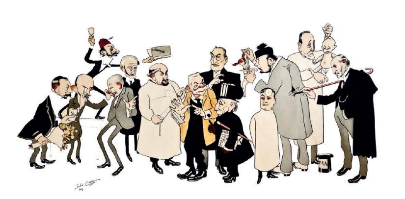 caricatura doctores