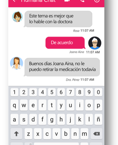 De EverBot a Humana Brain. Aplicación de un bot para el seguimiento de pacientescrónicos